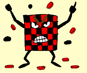 An angry checkerboard
