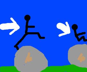 Stickman Boulder Jump