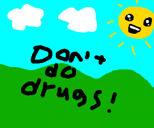 Child drawing spreads anti drug message