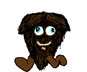 A derpy beard