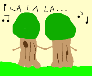 2 trees singing togethers: La La La