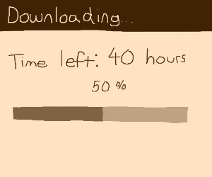 Download time is approximately 40 hours