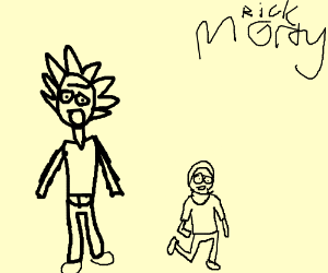 It's simplistic Rick and morty