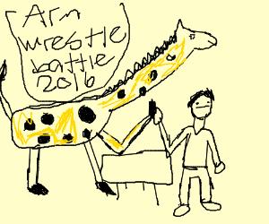 giraffe wrestling
