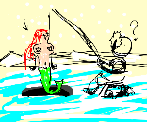 mermaid is outraged by winter
