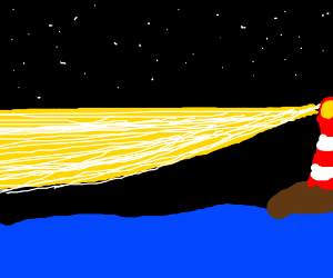 a distant light house