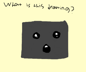 Square Man Asks What Drawing Is Of