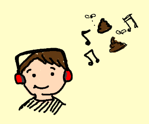 Man listens to song about poop