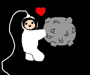 spaceman befriends a meteor