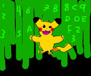 pikachu in the matrix