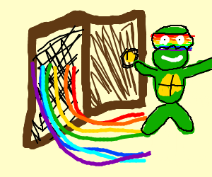 Turtle comes out of the closet