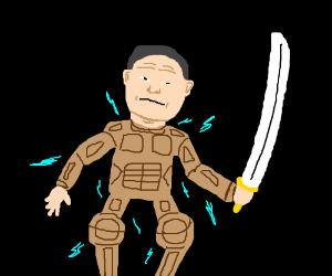 A futuristic ninja