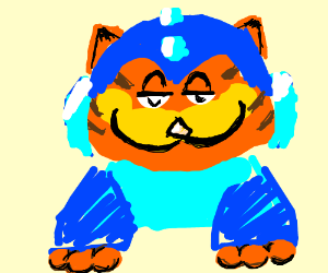 megaman bur Garfield