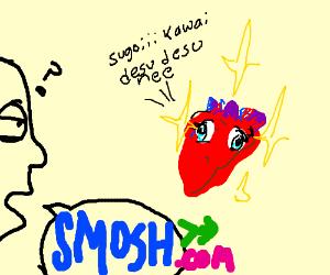 Oishi (smosh) finds solitary human heart sugoi