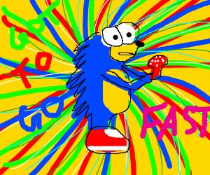Sonic on shrooms