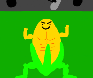 Beefy Corn in front of green screen