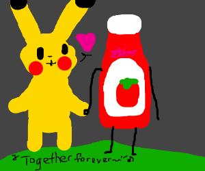 Pikachu loves tomato sauce
