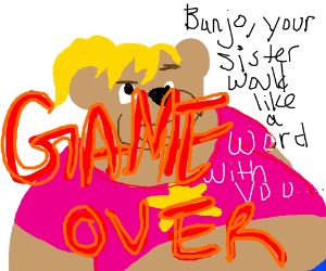 Banjo Kazooie Game-Over screen