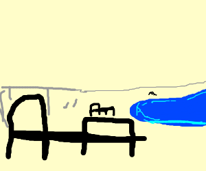 Some beds on the beach