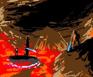 Anakin and Obi Wan fight from Star Wars E.III