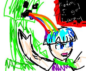 Minecraft guy barfs on Dragonballz character?