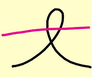 pink string in a loop