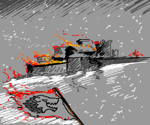 Winterfell set ablaze
