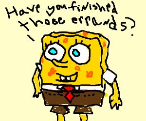 SpongeBob asks if you have finished