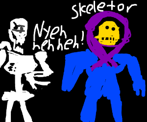 Papyrus and Skeletor(Yes Undertale And He-Man) - Drawception