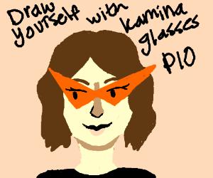 Draw yourself with Kamina glasses (PIO)