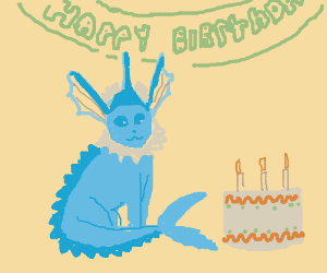 Blue Eevee birthday