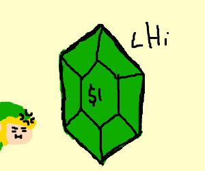 green rupee says hi