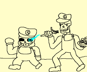 Sans as mario, papyrus as Luigi