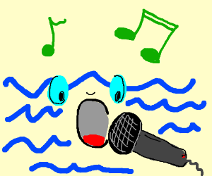 Sea witch likes to sing