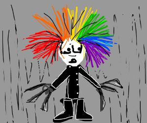 edward scissorhands with rainbow hair
