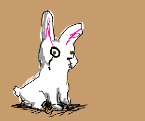 Bunny's monocle is rather fancy