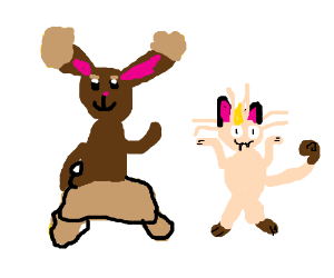 Meowth and Buneary