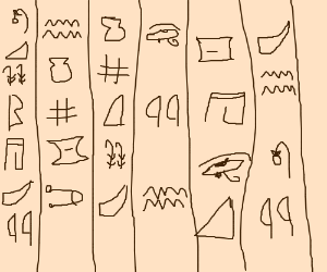 Egyptian writing
