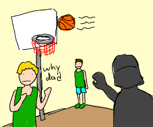 Vader using the force in basketballmatch