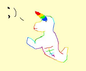 Rainbow Unicorn Arron flexes in!