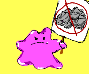 Ditto protests against Rhyhorns