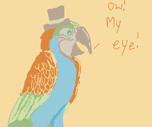 Dapper parrot has an eye problem