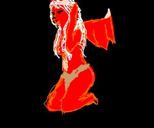 Sexy dragon girl
