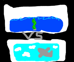 seaweed vs a plane