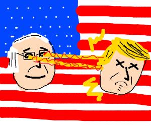 Bernie kills Trump with his heat vison