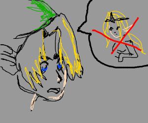 Zelda Holding his Sword