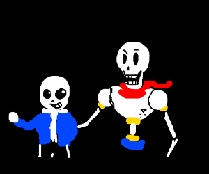 sans and THE GREAT PAPYRUS!