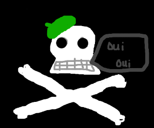 Skull Wearing Beret
