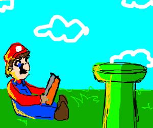 Mario studying