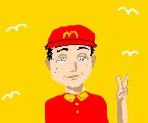 McDonald's employee negotiates peace